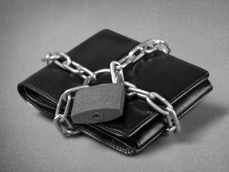 black locked wallet 免版税图像
