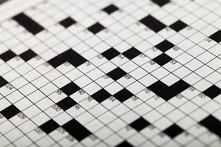 Closeup of a Crossword Puzzle