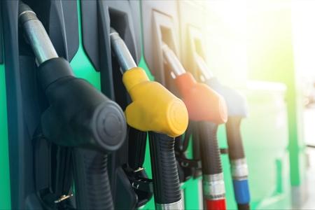 Colorful Petrol pump filling nozzles