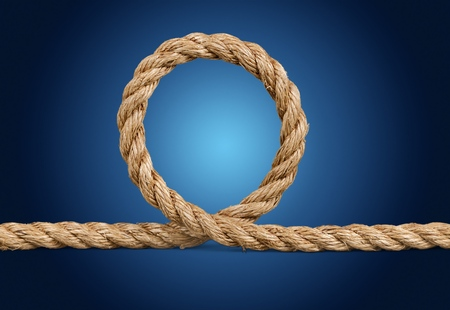 Jute rope isolated on white background 写真素材