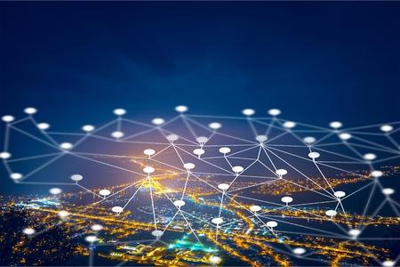 Communication network of urban city