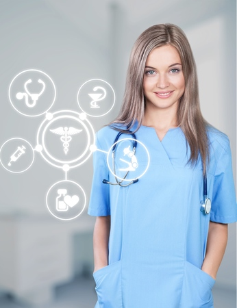 Young woman doctor Stock Photo