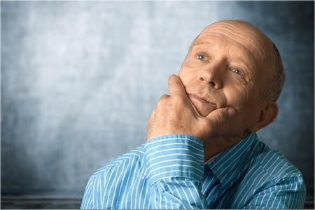 Man Thinking on White Background