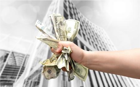 Fist of Cash Stock Photo