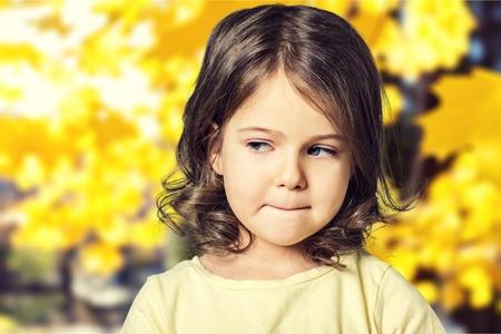 beauty child at the blackboard Stock Photo