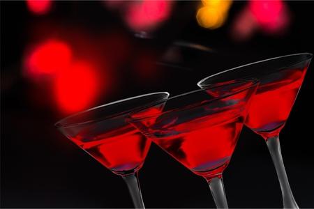 Cosmopolitan Martini Glasses on white