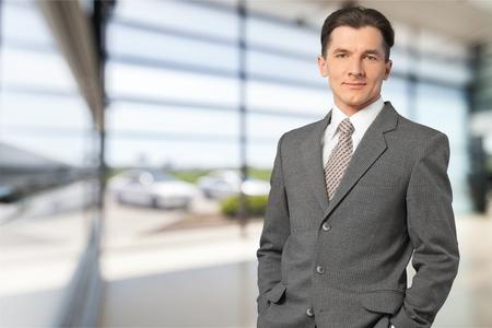 Portrait of a businessman smiling Stock Photo