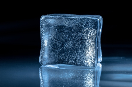 Frozen ice Cube Stock Photo