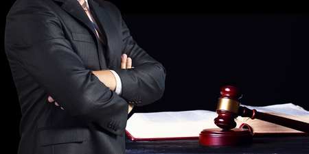 Business man and justice concept