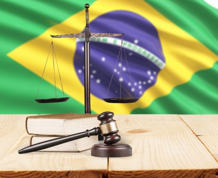 Justice for Brazil Laws in Brazilian Court Stock Photo