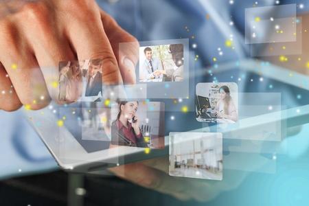 Sociaal voorzien van een netwerkdienstconcept