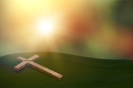 cross on blurry background