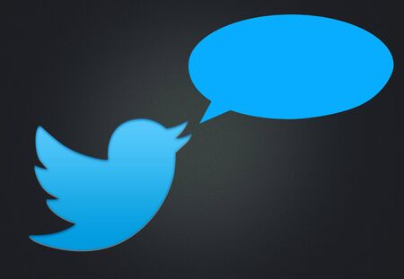 Twitter logo and balloon Editorial