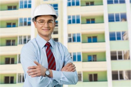 Safety Engineer Closeup Standard-Bild