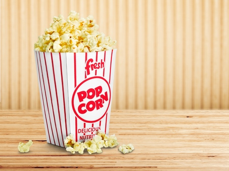 Movie Tickets & Popcorn Isolate Banco de Imagens