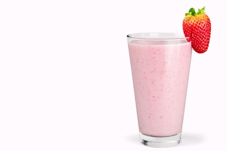 Organic Strawberry Smoothie made with fresh Ingredients Banco de Imagens