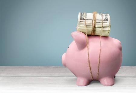Heavy Lifting - piggybank carry cash money