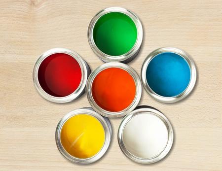 Open Paint Tins ( Color wheel )