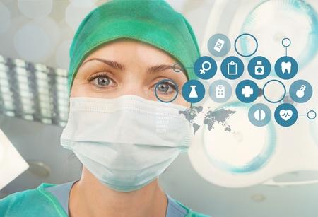 Close-up of a female surgeon Фото со стока