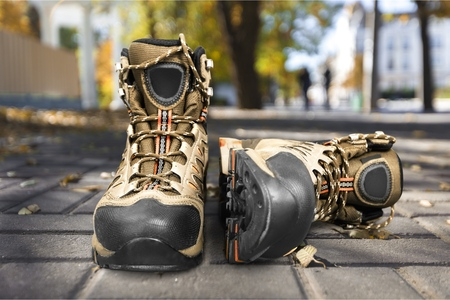 Hiking Boots w Clipping path Stok Fotoğraf