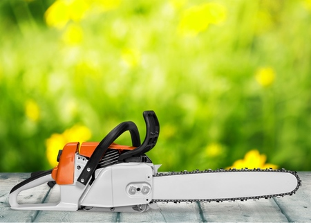 Chainsaw Isolated Stock fotó