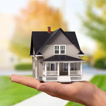 Miniature model house series Stockfoto - 103089582