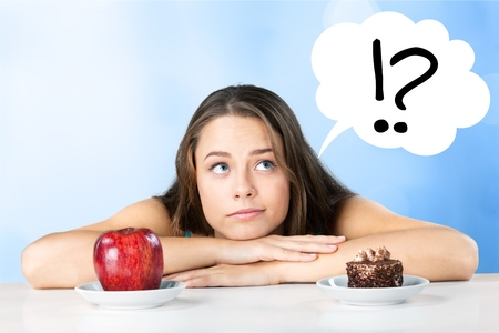 Dieting or not Stock Photo