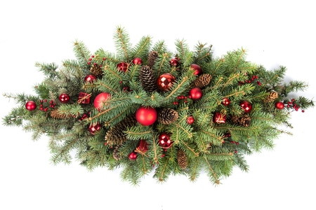 Christmas Decoration Floral Arrangement with Cones Stockfoto
