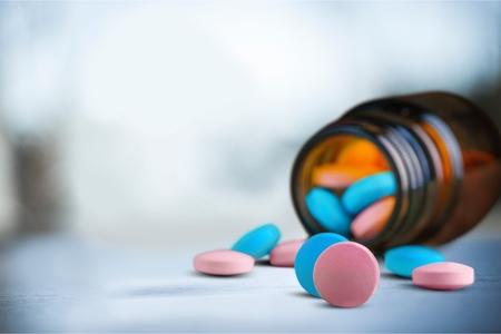 Vitamin Pill on table