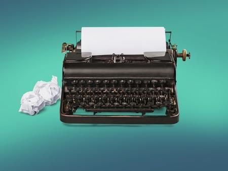 Vintage typewriter header