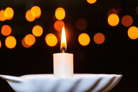 christmas candlelight Stock Photo