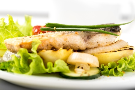 Grilled seafood dish