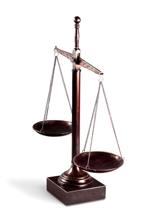 Scale of Justice Isolated