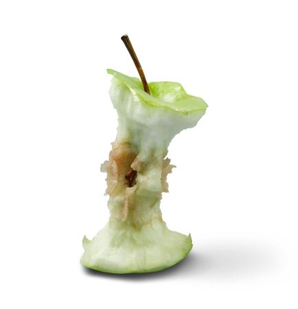 An Eaten Green Apple Core