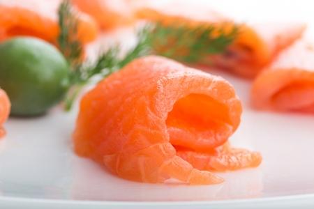 Raw Fresh salmon steak