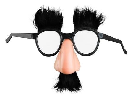 Masque de déguisement classique avec faux nez et moustache