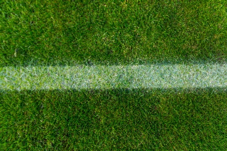 Closeup of a White Stripe on a Green Field