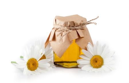 Honey Jar with Daisies