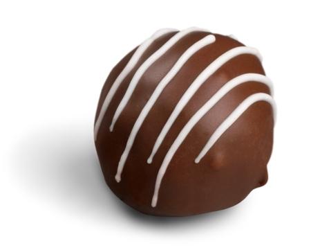 Milk chocolate candy  praline  truffle 免版税图像