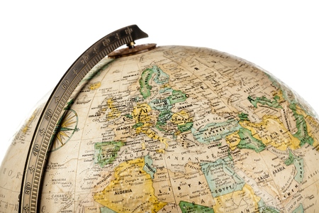Part of a Globe with Map of Europe Banco de Imagens
