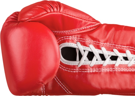 A Red boxing glove, Isolated on Transparent Background