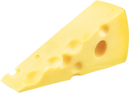 Piece of Swiss Cheese - Isolated