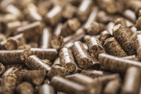 Wood pellets Stockfoto