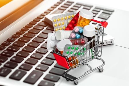 shopping cart full of pill