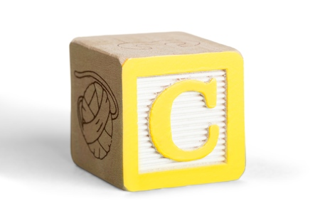 ABC Block with Letter C Isolated