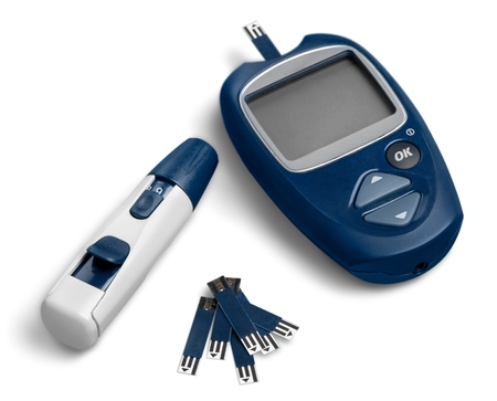 Glucometer isolated
