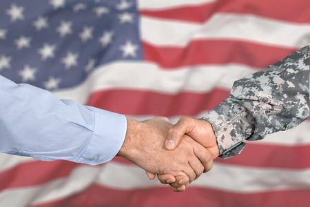 American soldier in uniform Standard-Bild