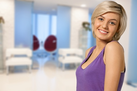 Hispanic woman smiling. Reklamní fotografie