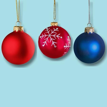 Shiny christmas decorative balls isolated on background Stock Photo