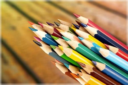 Tips of colored pencils Фото со стока